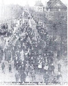 Begräbnis der Revolutionsopfer im März 1919 in Sömmerda